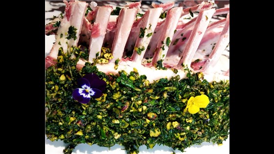 Pistachio & Mint Crusted Lamb rack