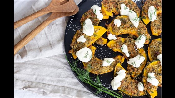 Christmas Crusted Pumpkin Parmesan Wedges w/ Dill Sour Cream Dressing Large