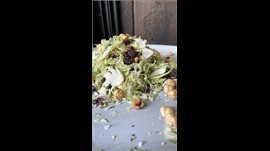 Raw Grated Brussel Sprout Salad w/Cranberries, Arugula and Hazelnut Large