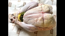 Buttered, Stuffed & Trussed Free Range Turkeys 4-5KG Feeds 6-10 people