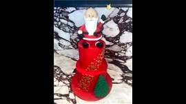 Red Santa Cake Regular