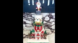 3 Tier Christmas Cake - Regular
